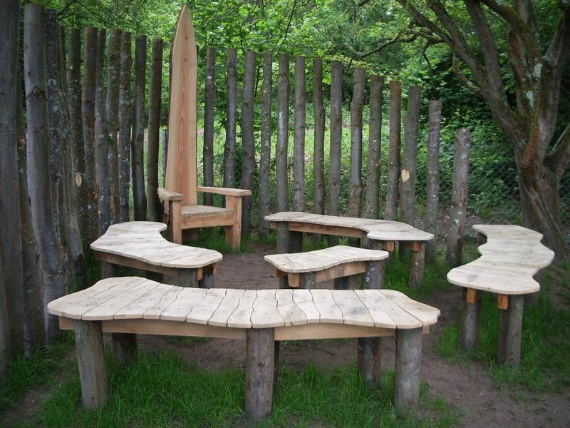 Outdoor bench ideas - Sustainable Garden Structures Kate Fox